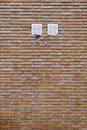 Brick wall with louvers Royalty Free Stock Image