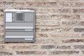 Brick wall with mailbox Royalty Free Stock Image