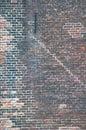 Mattone muro molti strati di vecchio e