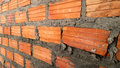 Brick wall new build and Royalty Free Stock Photography