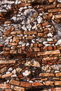 Brick wall old building background Stock Photography