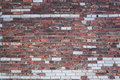 Brick wall old damaged house Royalty Free Stock Photography