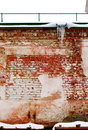 Brick wall of the old destroyed building Royalty Free Stock Images
