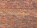 Brick wall old masonry brown background Royalty Free Stock Photos