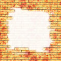 Brick wall with painted frame Stock Image