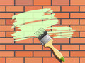 Brick-wall painting Royalty Free Stock Photography