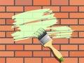 Brick-wall painting Royalty Free Stock Photography