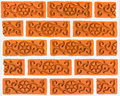 Brick wall pattern traditional thai design Stock Photography
