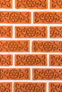 Brick wall pattern traditional thai design Royalty Free Stock Images