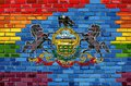Brick Wall Pennsylvania and Gay flags