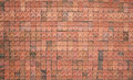 Brick wall red for background Stock Image