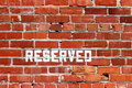 Brick Wall Reserved Stock Image