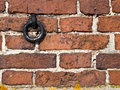 Brick wall with ring Stock Photos