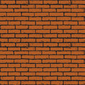 Brick wall seamless background of red texture Stock Images