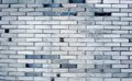 Brick wall side of the gray Royalty Free Stock Images