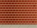 Brick wall and sidewalk background Royalty Free Stock Photos