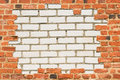 Brick wall surrounded with another wall Royalty Free Stock Images