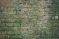 Brick wall texture of a photo Royalty Free Stock Photos