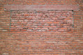 Brick wall texture red of the building Stock Images