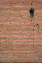 Brick wall texture red spotted of the building Royalty Free Stock Images