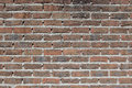 Brick wall texture very old dark red Royalty Free Stock Image
