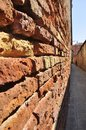 Brick wall in venice of the houses on the streets of italy Royalty Free Stock Photos