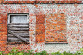 Brick wall and windows Royalty Free Stock Photo