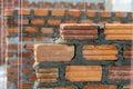 Brick wall work Royalty Free Stock Photo