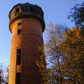 Brick water tower autumn shot Stock Images