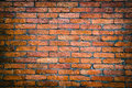 Brick weathered stained old brick wall background red brick wall Royalty Free Stock Photo