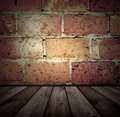 Brick and wooden interior Royalty Free Stock Photos