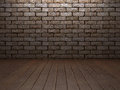 Brick & wooden interior Royalty Free Stock Photo