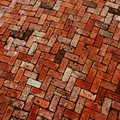 Brick work Patio Stock Photo