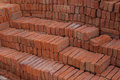 Brickbat the bricks are being prepared for construction Royalty Free Stock Photography