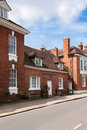 Bricked buildings at the street in stratford upon avon uk typical british architecture Royalty Free Stock Photography
