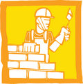 Bricklayer Royalty Free Stock Photography