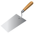 Bricklayer tool to work with cement mortar vector done manually without a trace Stock Image
