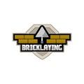 Bricklaying company logo Royalty Free Stock Photo