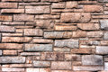 Bricks detail of various sized in a wall Royalty Free Stock Image