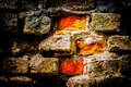 Bricks and mortar red of the very old wall stylized photography Royalty Free Stock Photos