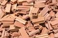 Bricks mound new ready for construction Royalty Free Stock Photo