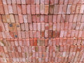 Bricks pile of construction materials Royalty Free Stock Photos
