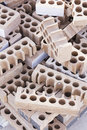 Bricks piled pile of in building construction business and architecture Stock Images