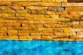 Bricks beside the pool Stock Image