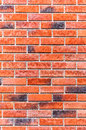Bricks in wall made from red texture background Royalty Free Stock Photos
