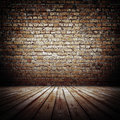 Bricks wall old rough indoor Royalty Free Stock Photography