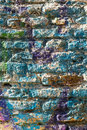 Bricks wall painted in different paint pastel colours background for invitation Royalty Free Stock Photos