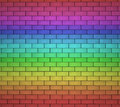 Bricks wall rainbow background colorful brick texture painted with colors Stock Photos