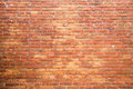 Bricks wall red color background Stock Image