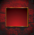Brickwall background with frame Royalty Free Stock Image